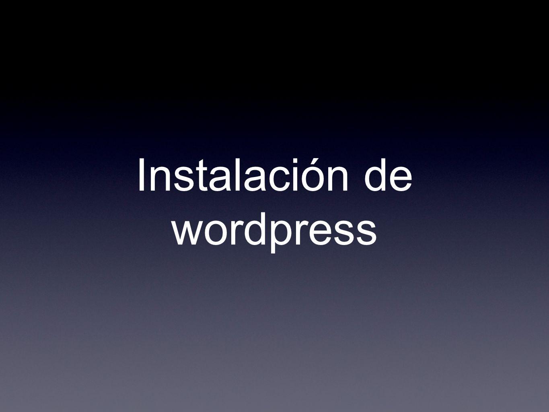 Instalación de Wordpress en el servidor: Localiza el archivo install.php, debería estar dentro del directorio en wp-admin.