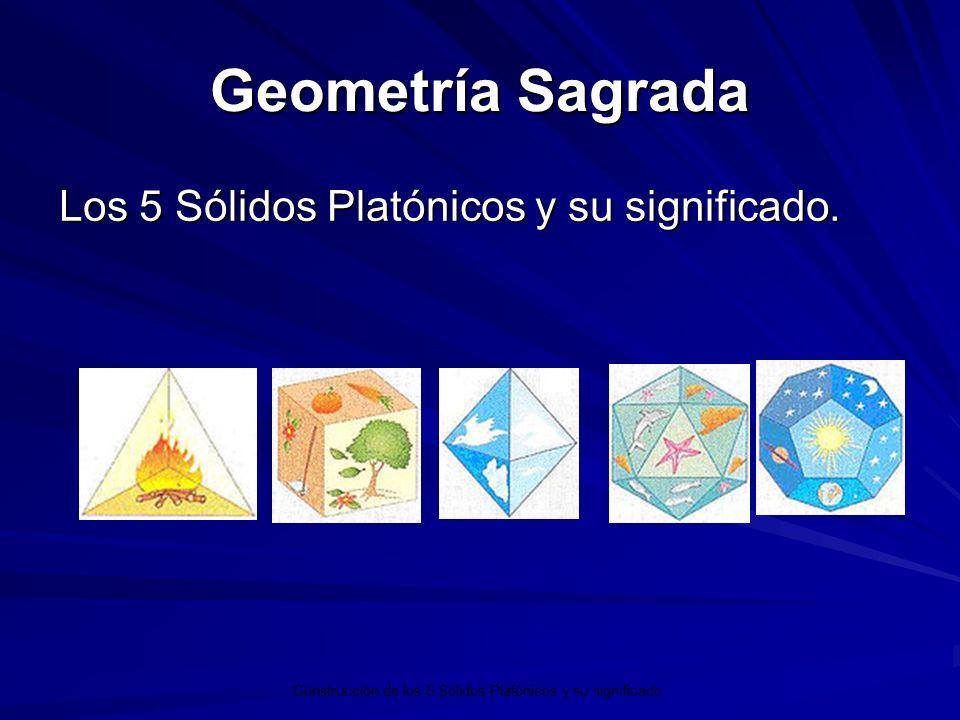 Geometría Sagrada Los 5 Sólidos Platónicos y su significado. Construcción de los 5 Sólidos Platónicos y su significado.
