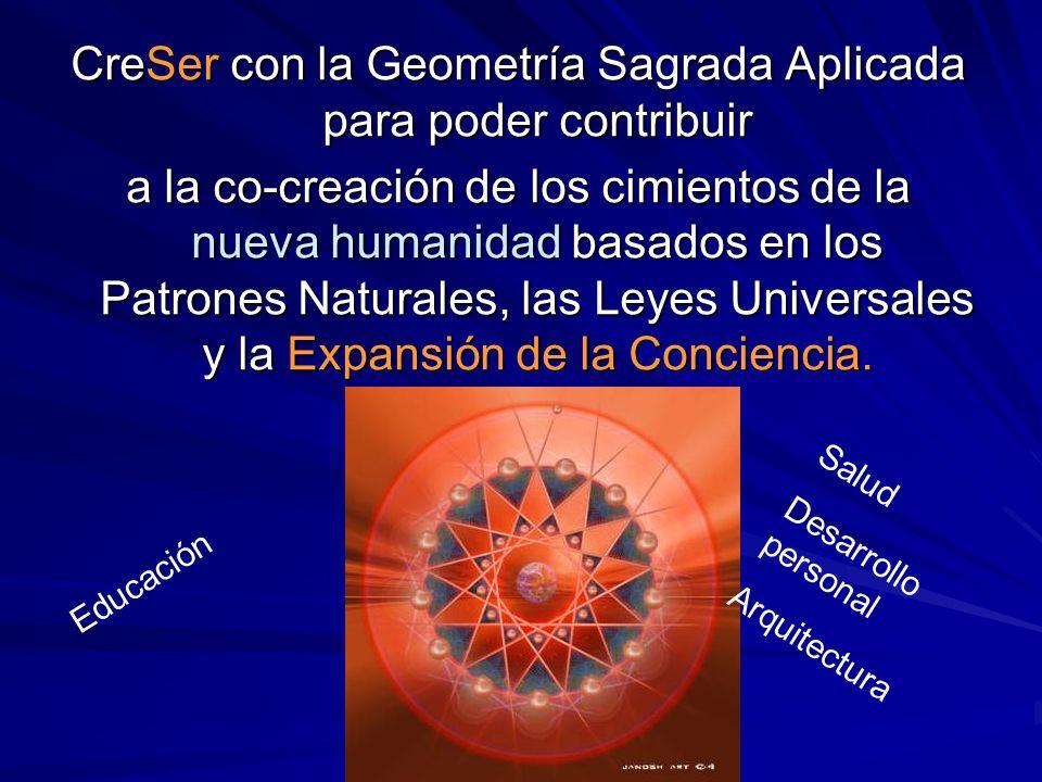 CreSer con la Geometría Sagrada Aplicada para poder contribuir a la co-creación de los cimientos de la nueva humanidad basados en los Patrones Natural