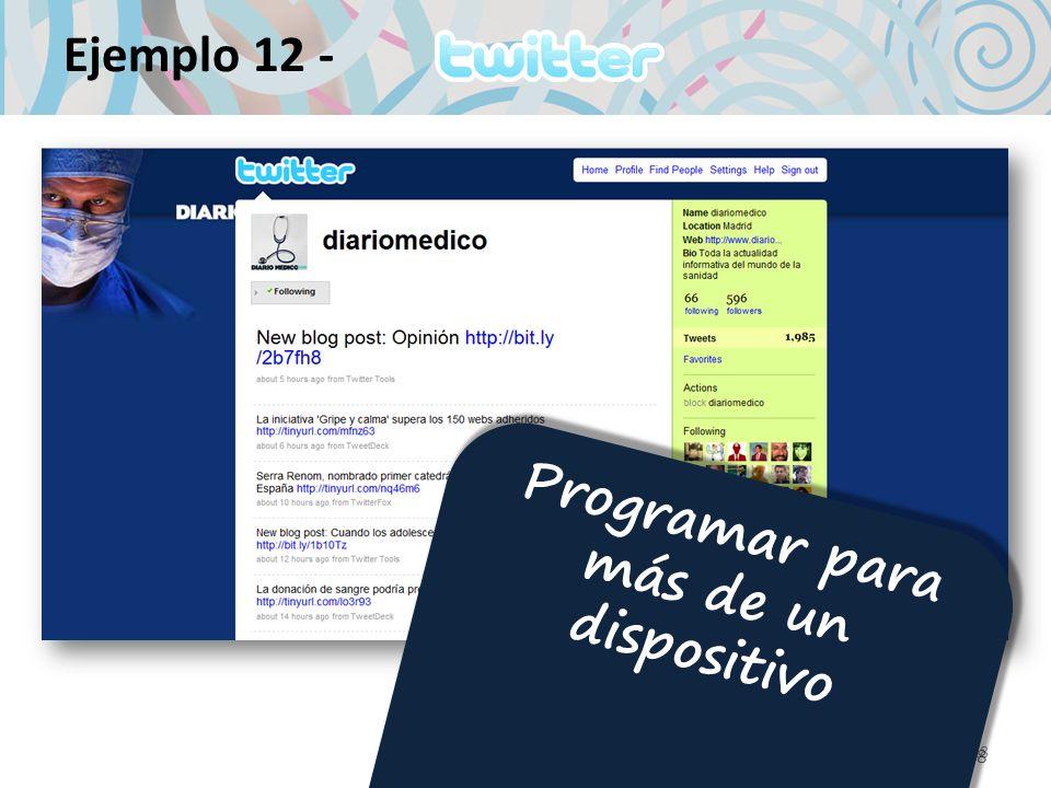 18 Ejemplo 12 - 18 Programar para más de un dispositivo