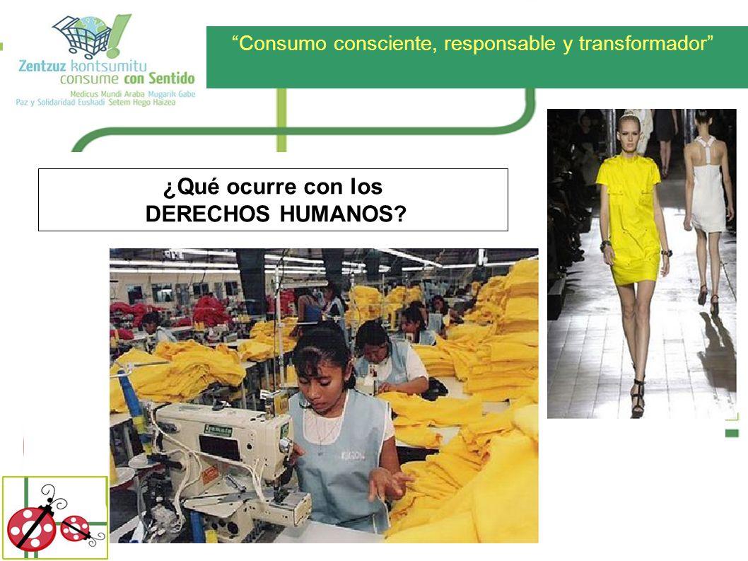 Consumo consciente, responsable y transformador ¿Qué ocurre con los DERECHOS HUMANOS?