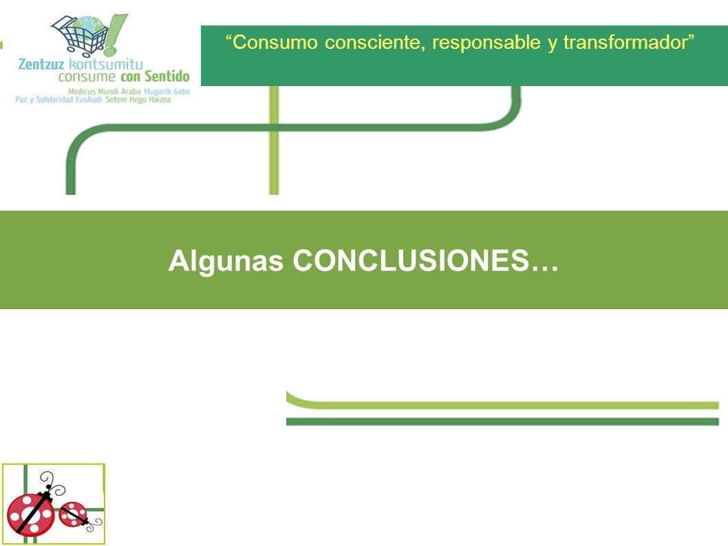 Consumo consciente, responsable y transformador Algunas CONCLUSIONES…