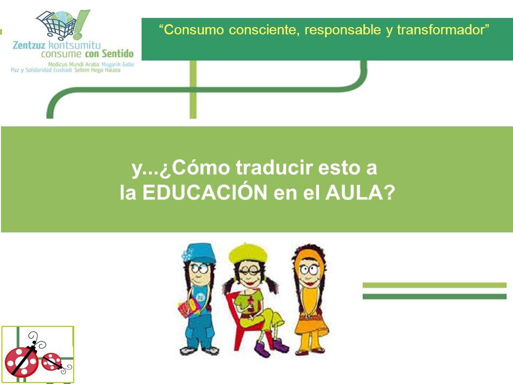 Consumo consciente, responsable y transformador y...¿Cómo traducir esto a la EDUCACIÓN en el AULA?