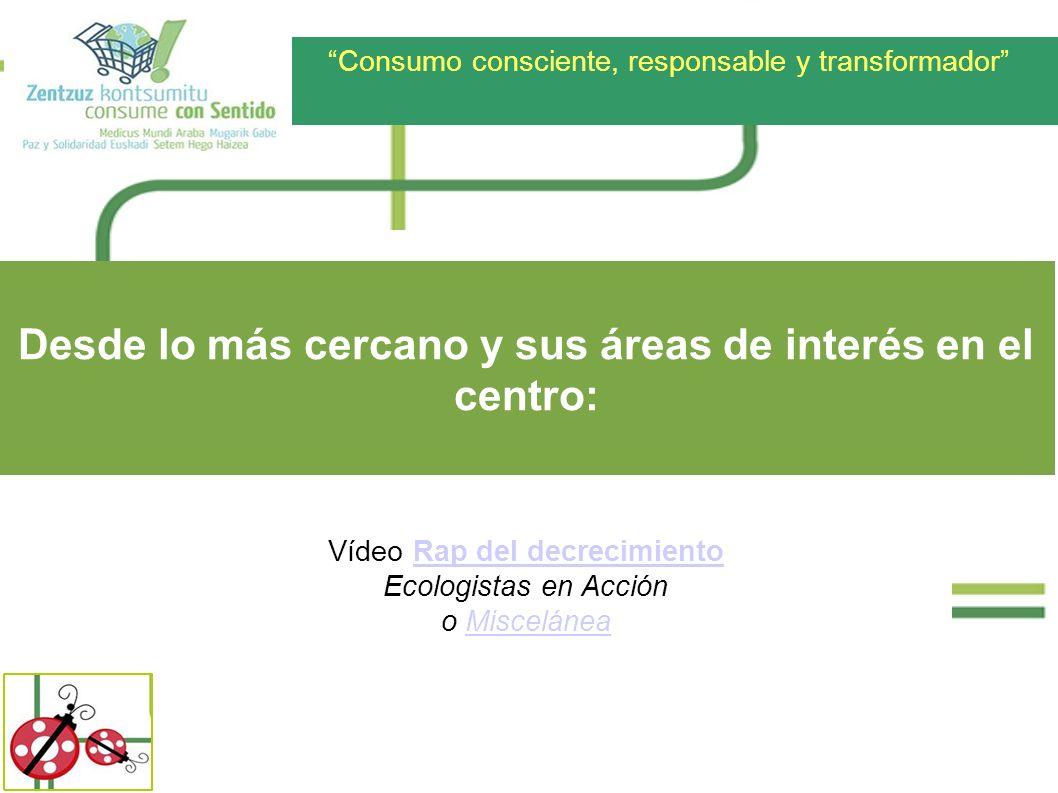 Consumo consciente, responsable y transformador Vídeo Rap del decrecimientoRap del decrecimiento Ecologistas en Acción o MisceláneaMiscelánea Desde lo