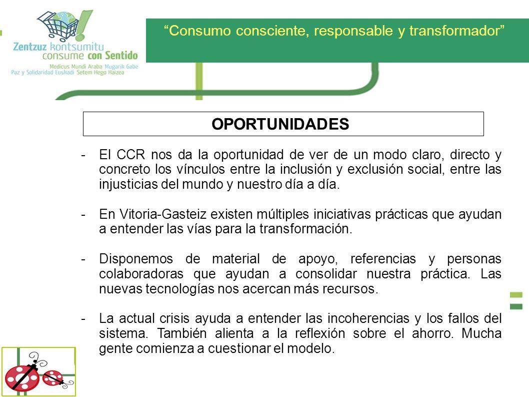 Consumo consciente, responsable y transformador -El CCR nos da la oportunidad de ver de un modo claro, directo y concreto los vínculos entre la inclus