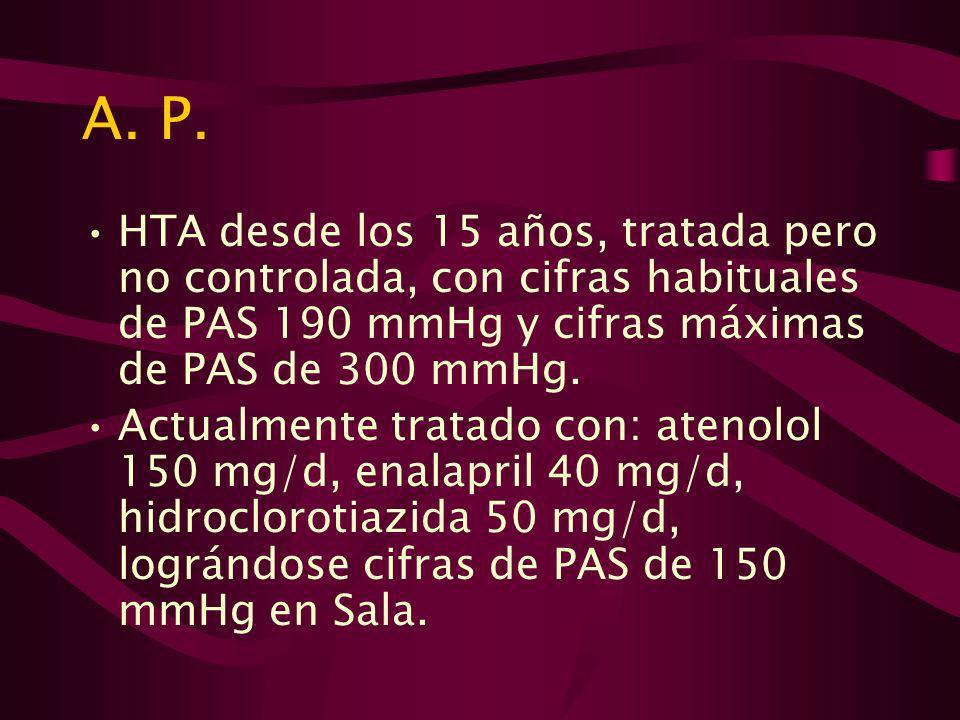 A.P. Insuficiencia cardíaca CF II de 2 años de evolución.