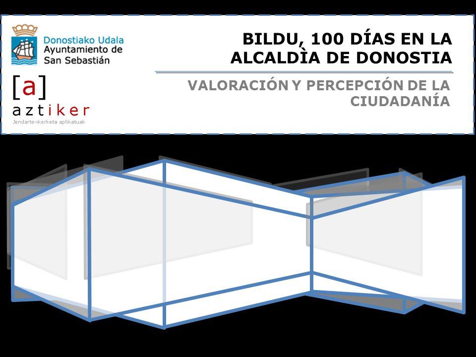 BILDU, 100 DÍAS EN LA ALCALDÌA DE DONOSTIA VALORACIÓN Y PERCEPCIÓN DE LA CIUDADANÍA