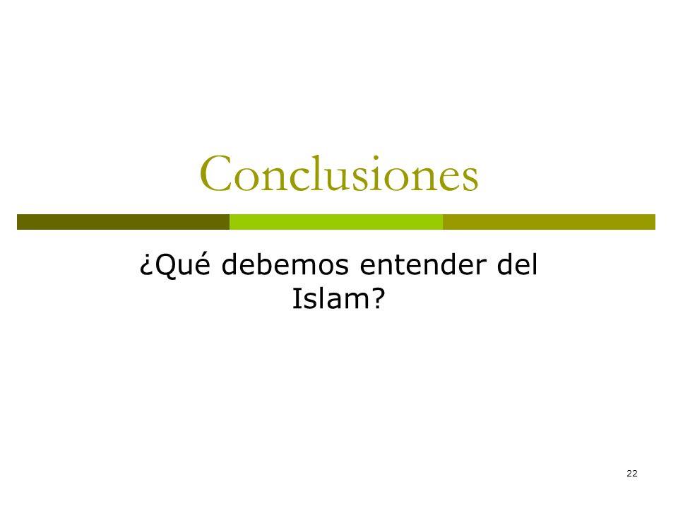 22 Conclusiones ¿Qué debemos entender del Islam?