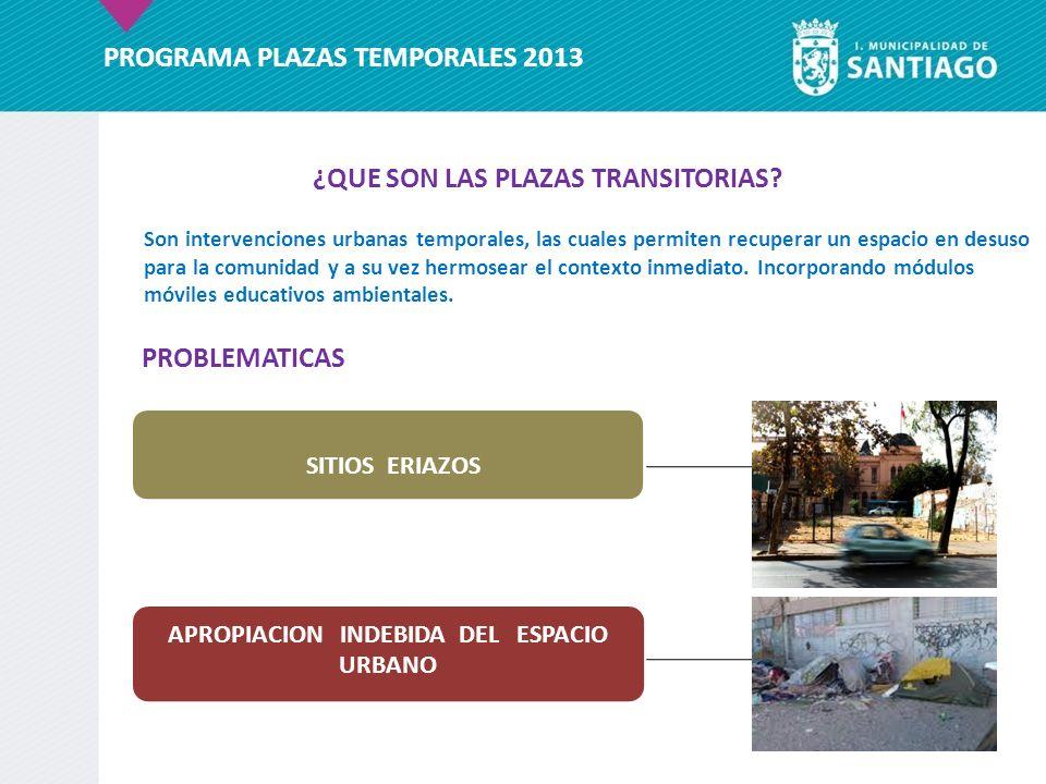 Son intervenciones urbanas temporales, las cuales permiten recuperar un espacio en desuso para la comunidad y a su vez hermosear el contexto inmediato