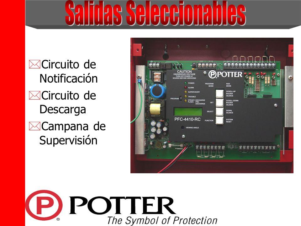 The Symbol of Protection *Circuito de Notificación *Circuito de Descarga *Campana de Supervisión