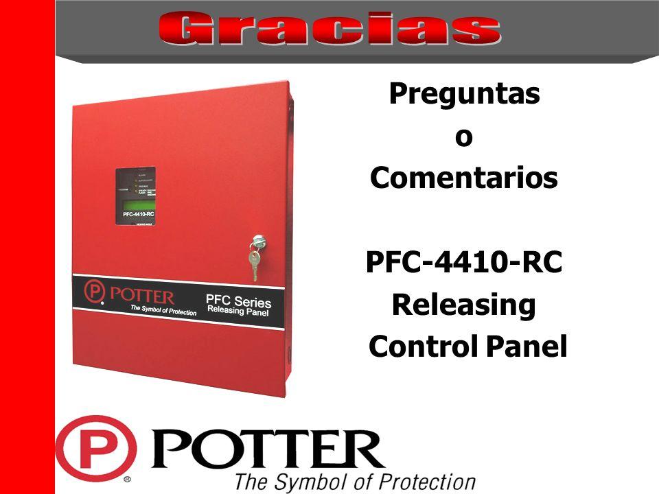 The Symbol of Protection Preguntas o Comentarios PFC-4410-RC Releasing Control Panel
