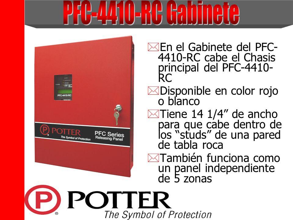 *En el Gabinete del PFC- 4410-RC cabe el Chasis principal del PFC-4410- RC *Disponible en color rojo o blanco *Tiene 14 1/4 de ancho para que cabe den