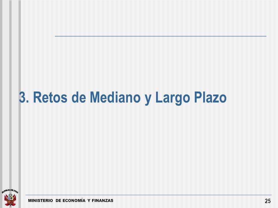 MINISTERIO DE ECONOMÍA Y FINANZAS 25 3. Retos de Mediano y Largo Plazo