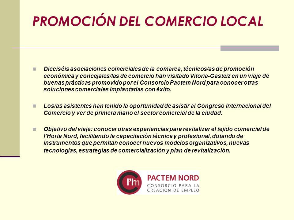 Dieciséis asociaciones comerciales de la comarca, técnicos/as de promoción económica y concejales/las de comercio han visitado Vitoria-Gasteiz en un v