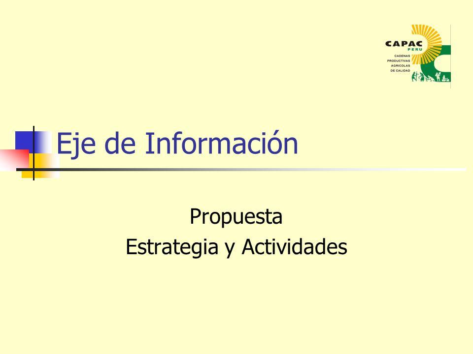 Eje de Información Propuesta Estrategia y Actividades