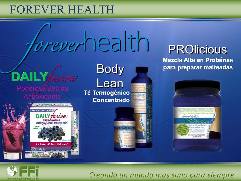 PROlicious Body Lean Body Lean FOREVER HEALTH Poderosa Bebida Antioxidante Té Termogénico Concentrado Mezcla Alta en Proteínas para preparar malteadas