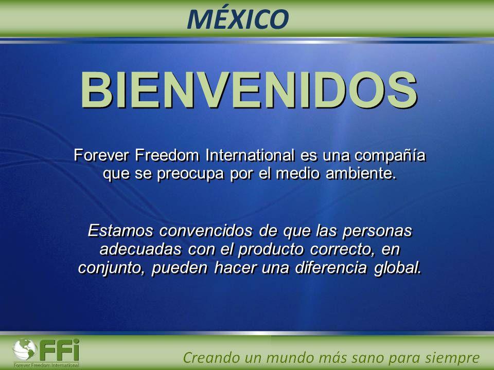 Forever Freedom International es una compañía que se preocupa por el medio ambiente. Estamos convencidos de que las personas adecuadas con el producto