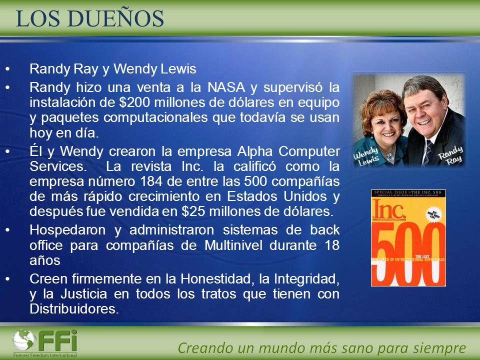 LOS DUEÑOS Randy Ray y Wendy Lewis Randy hizo una venta a la NASA y supervisó la instalación de $200 millones de dólares en equipo y paquetes computac