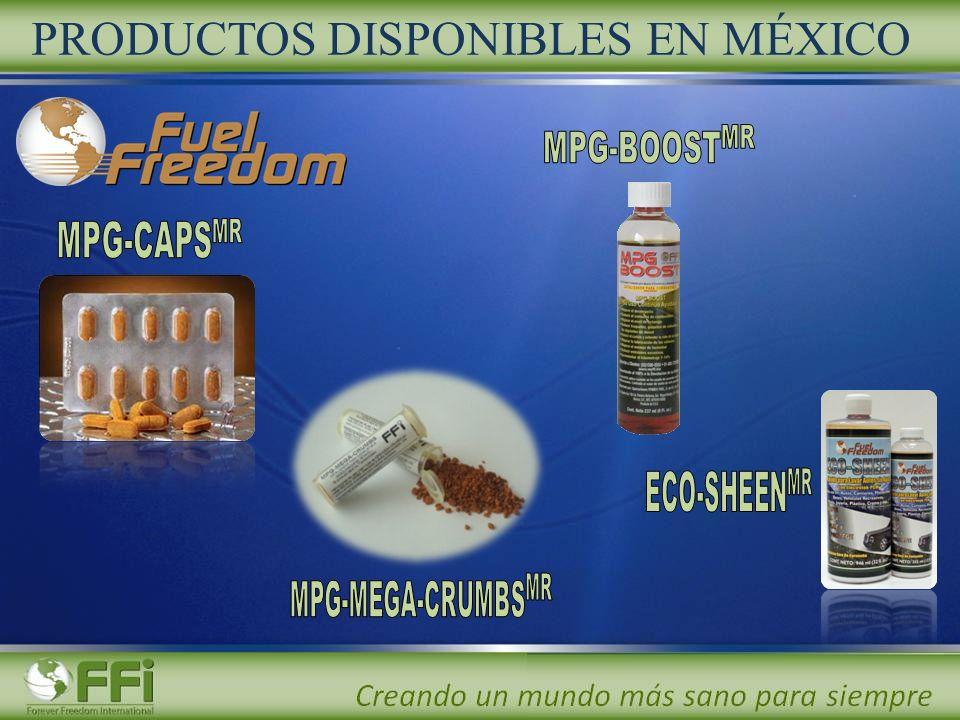 PRODUCTOS DISPONIBLES EN MÉXICO