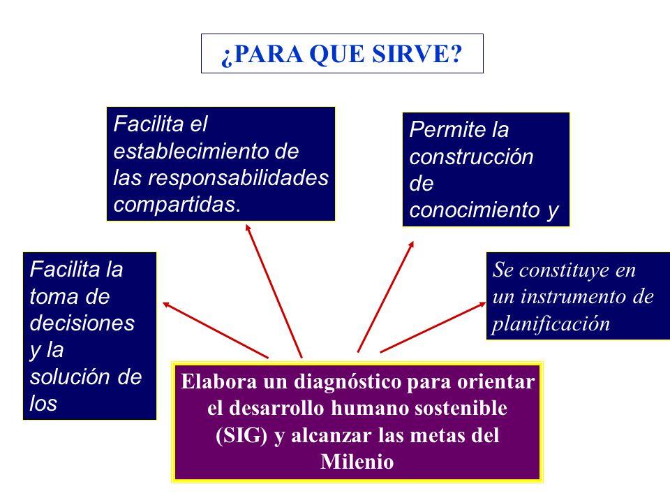 Facilita la toma de decisiones y la solución de los problemas Facilita el establecimiento de las responsabilidades compartidas. Permite la construcció