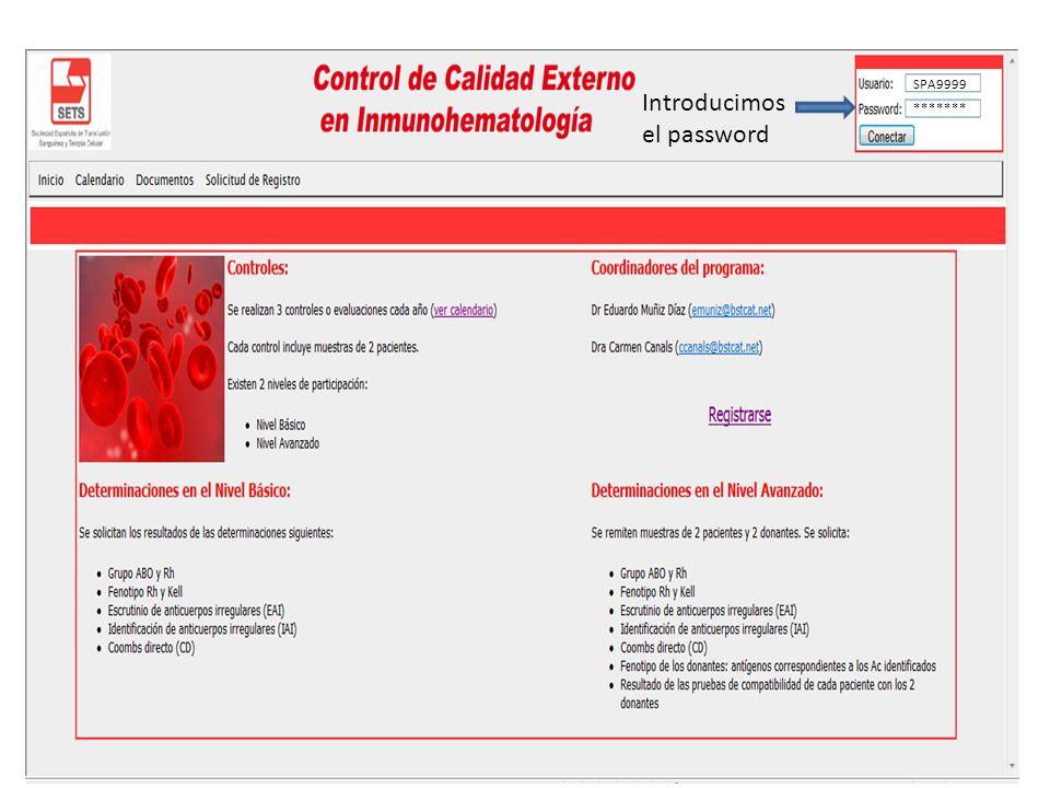 Introducimos el password SPA9999 *******