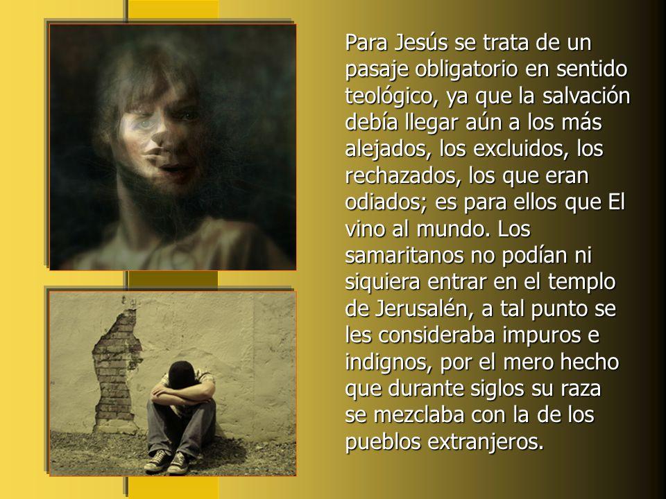 La historia de esta mujer, escrita por el evangelista Juan, nos ofrece el encuentro y el coloquio de Jesús con la Samaritana en una ciudad de Samaria.