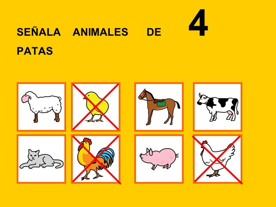 SEÑALA LOS ANIMALES DE GRANJA