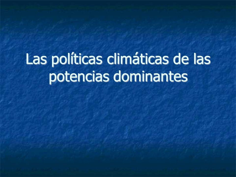 Las políticas climáticas de las potencias dominantes