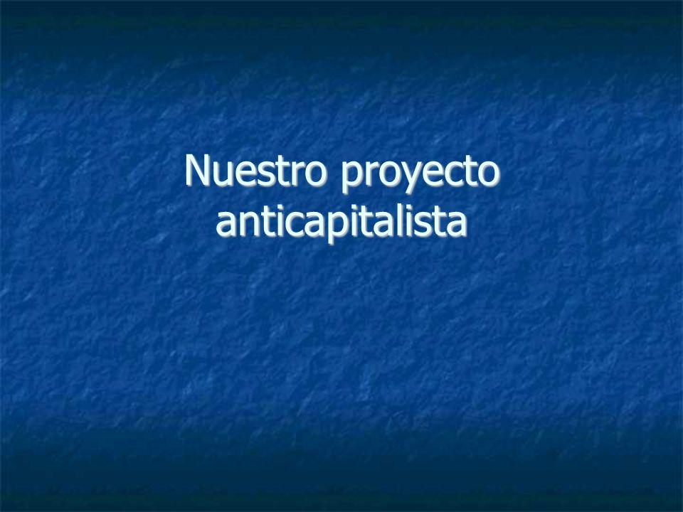 Nuestro proyecto anticapitalista