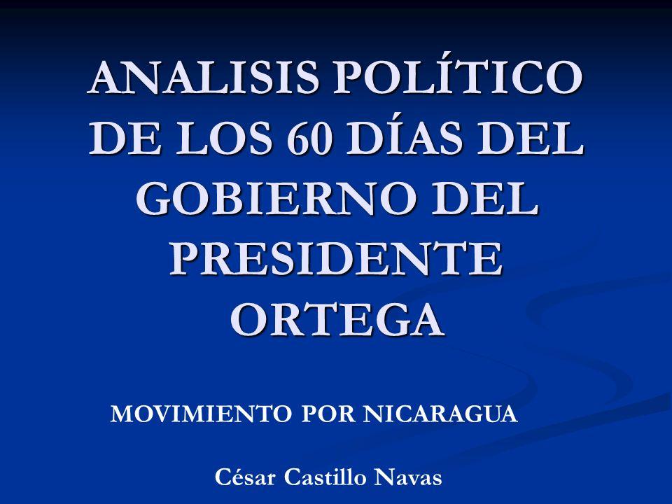 ANALISIS POLÍTICO DE LOS 60 DÍAS DEL GOBIERNO DEL PRESIDENTE ORTEGA MOVIMIENTO POR NICARAGUA César Castillo Navas