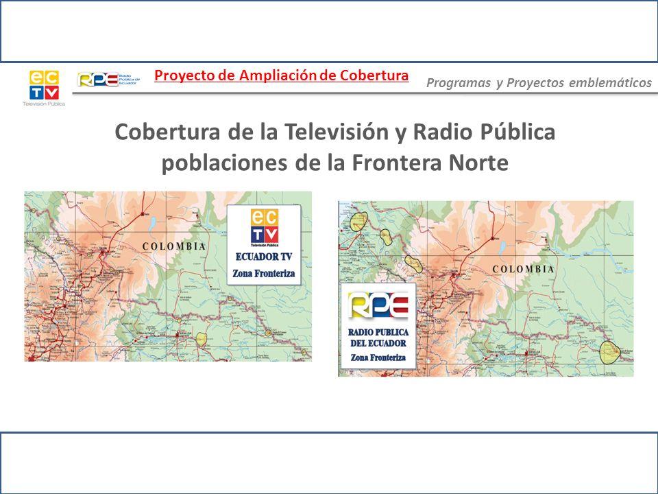 Retos Culminar los Proyectos de Ampliación de Cobertura Instalar 60 nuevas repetidoras de Televisión y 2 de Radio FM hasta finales de este año Cubrir con señal de la Televisión y Radio Pública a todos los cantones del país