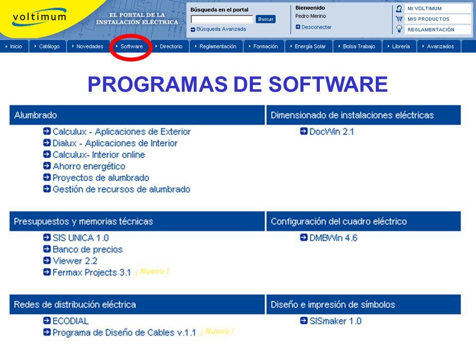 PROGRAMAS DE SOFTWARE