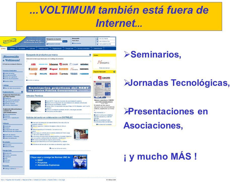 Seminarios, Jornadas Tecnológicas, Presentaciones en Asociaciones, ¡ y mucho MÁS !...VOLTIMUM también está fuera de Internet...