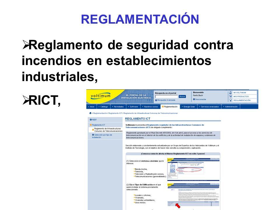 Reglamento de seguridad contra incendios en establecimientos industriales, RICT, REGLAMENTACIÓN