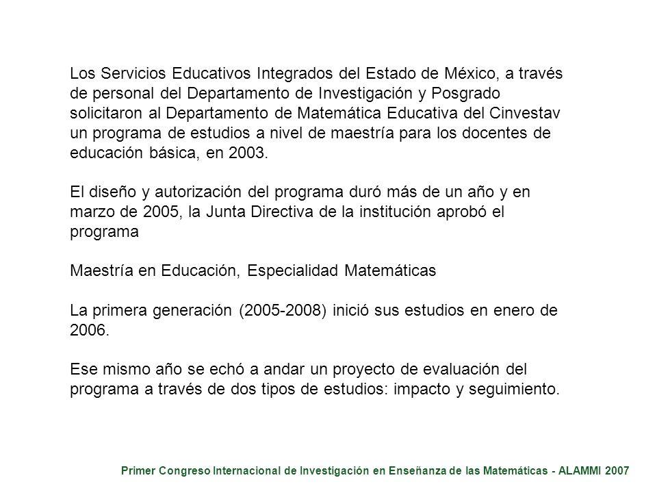 Los Servicios Educativos Integrados del Estado de México, a través de personal del Departamento de Investigación y Posgrado solicitaron al Departament