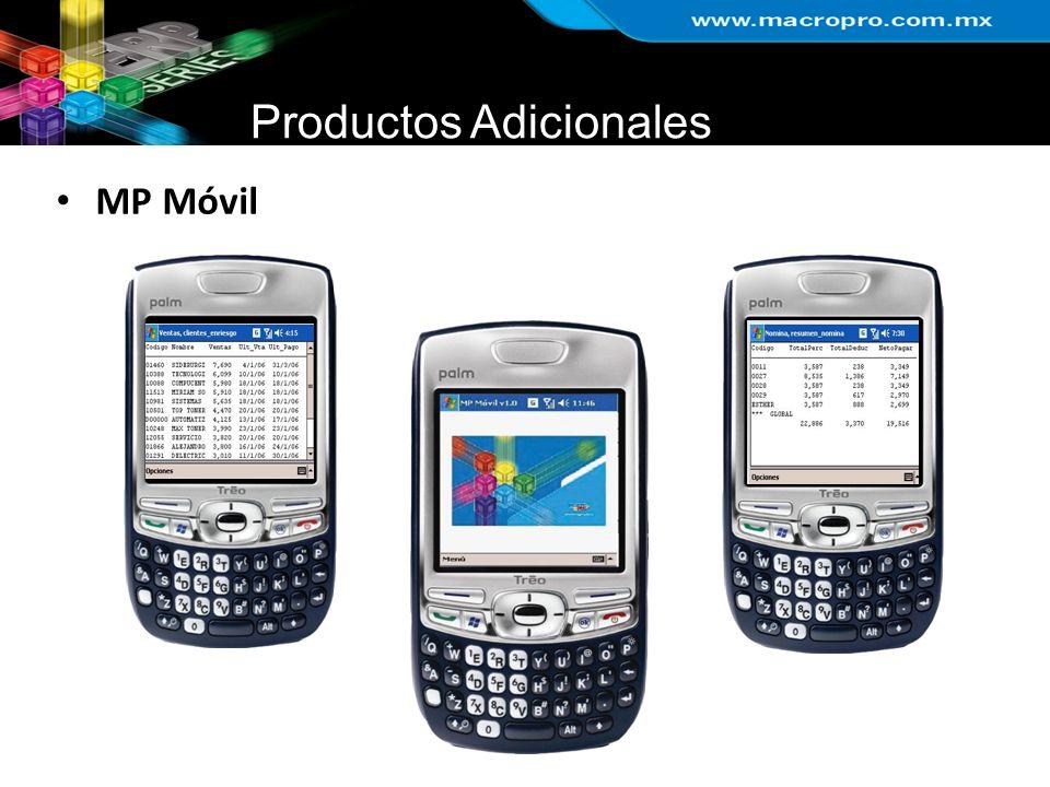 Productos Adicionales MP Móvil