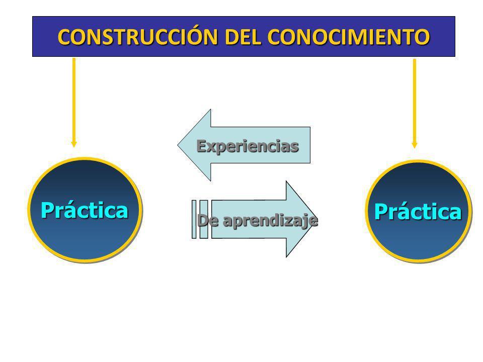 CONSTRUCCIÓN DEL CONOCIMIENTO PrácticaPráctica De aprendizaje PrácticaPráctica Experiencias