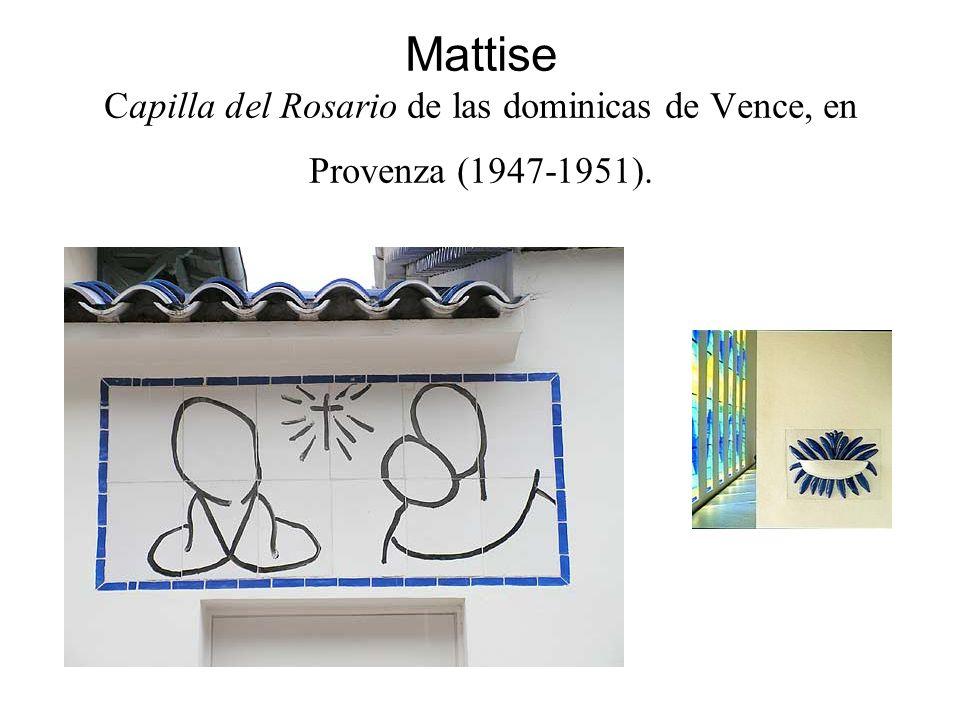Mattise Capilla del Rosario de las dominicas de Vence, en Provenza (1947-1951).