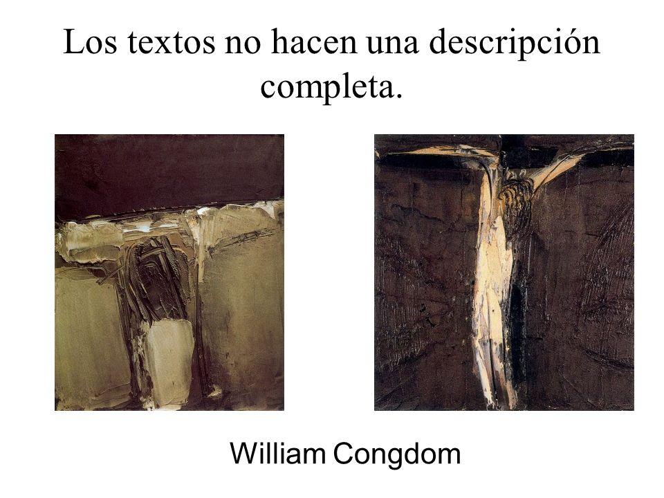 Los textos no hacen una descripción completa. William Congdom