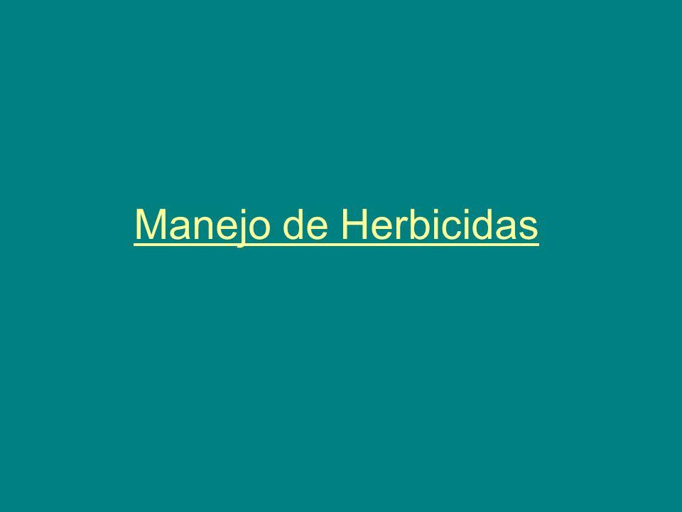 Manejo de Herbicidas