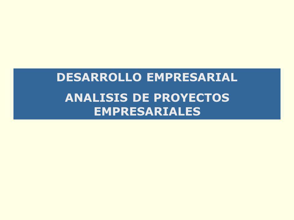 DESARROLLO EMPRESARIAL ANALISIS DE PROYECTOS EMPRESARIALES