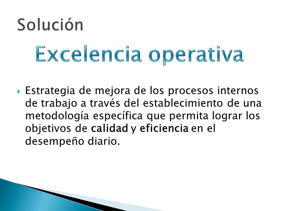 Estrategia de mejora de los procesos internos de trabajo a través del establecimiento de una metodología específica que permita lograr los objetivos d