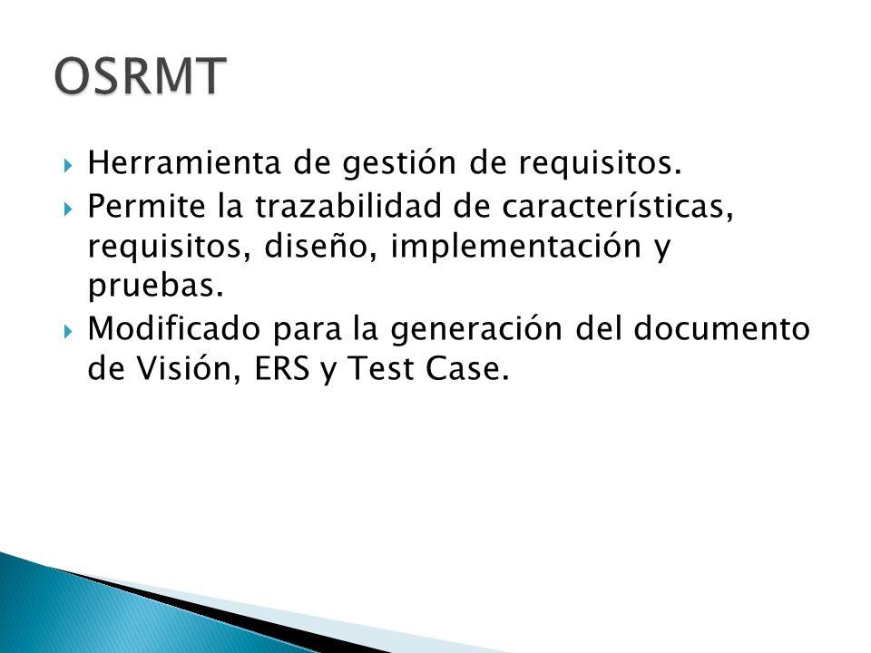 Herramienta de gestión de requisitos. Permite la trazabilidad de características, requisitos, diseño, implementación y pruebas. Modificado para la gen