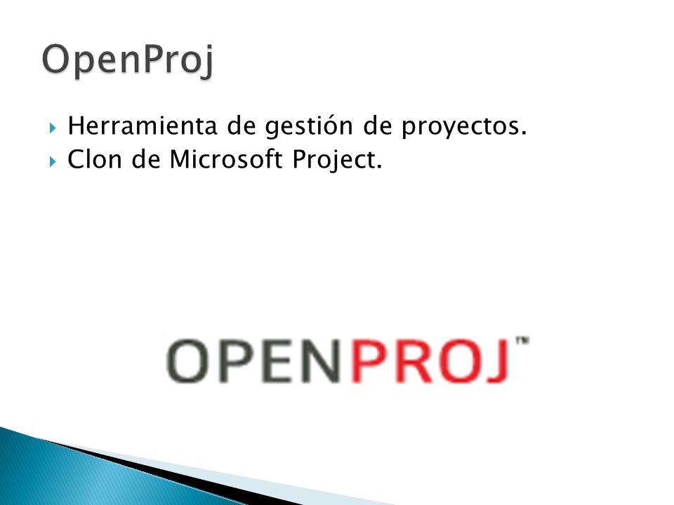 Herramienta de gestión de proyectos. Clon de Microsoft Project.