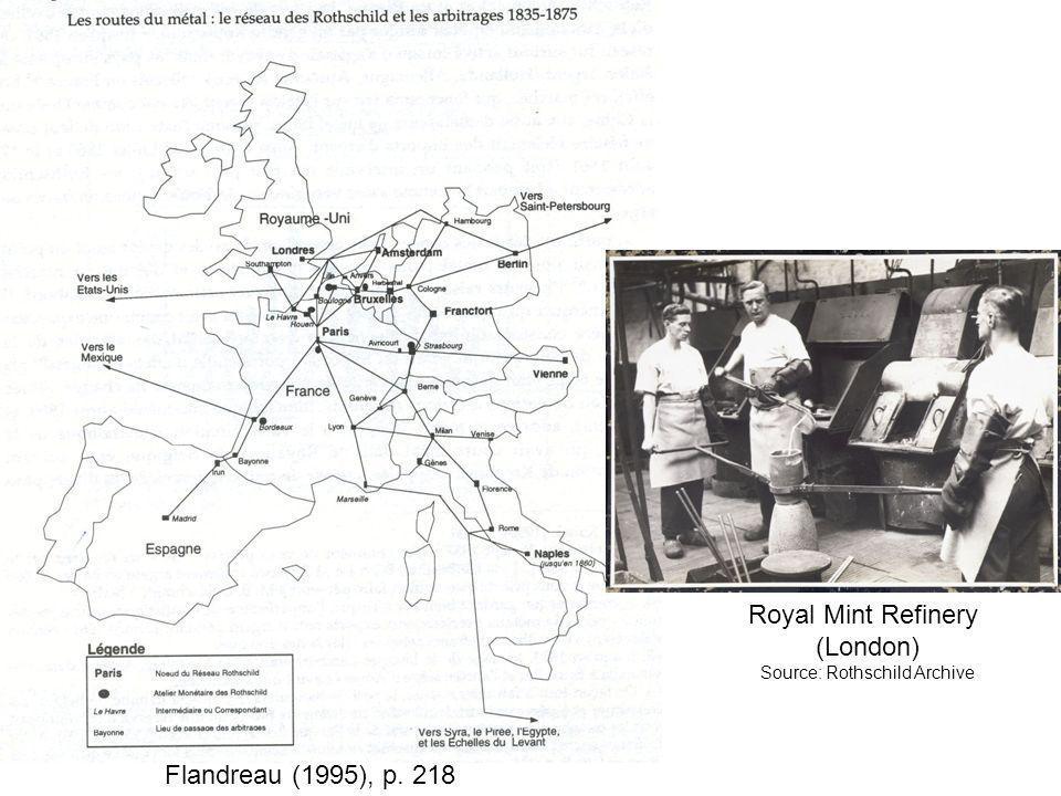 Flandreau (1995), p. 218 Royal Mint Refinery (London) Source: Rothschild Archive