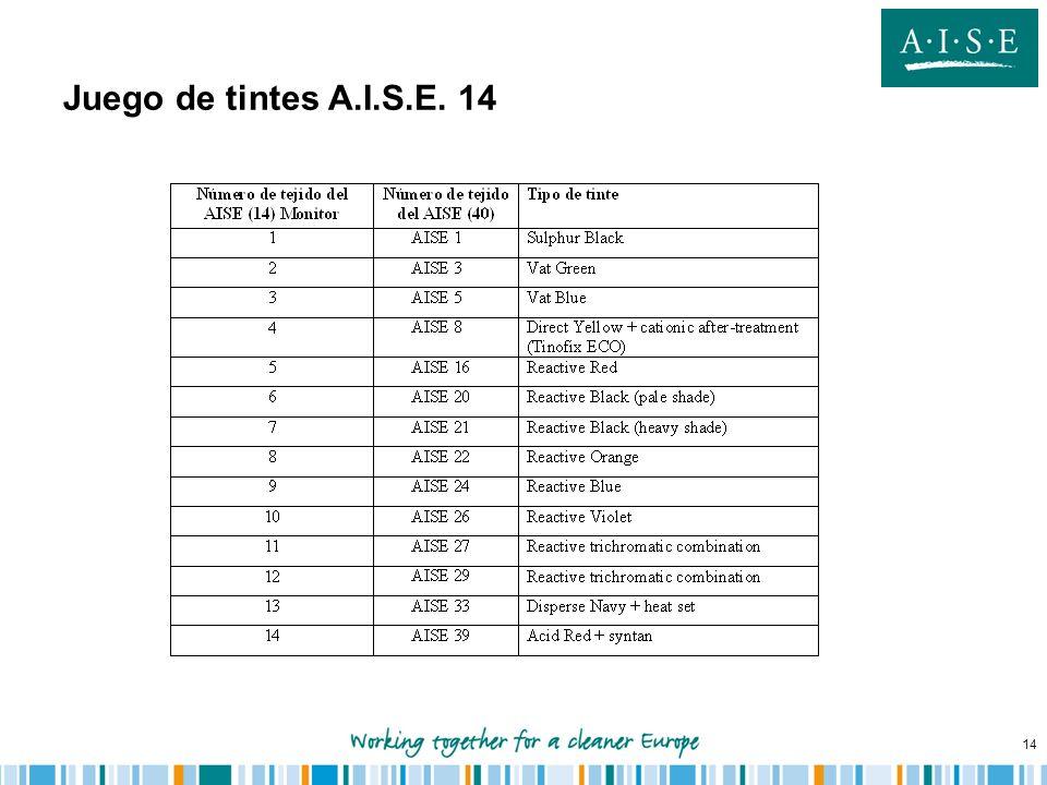 14 Juego de tintes A.I.S.E. 14