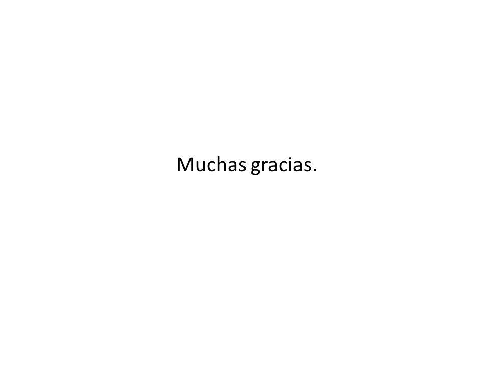 Muchas gracias.
