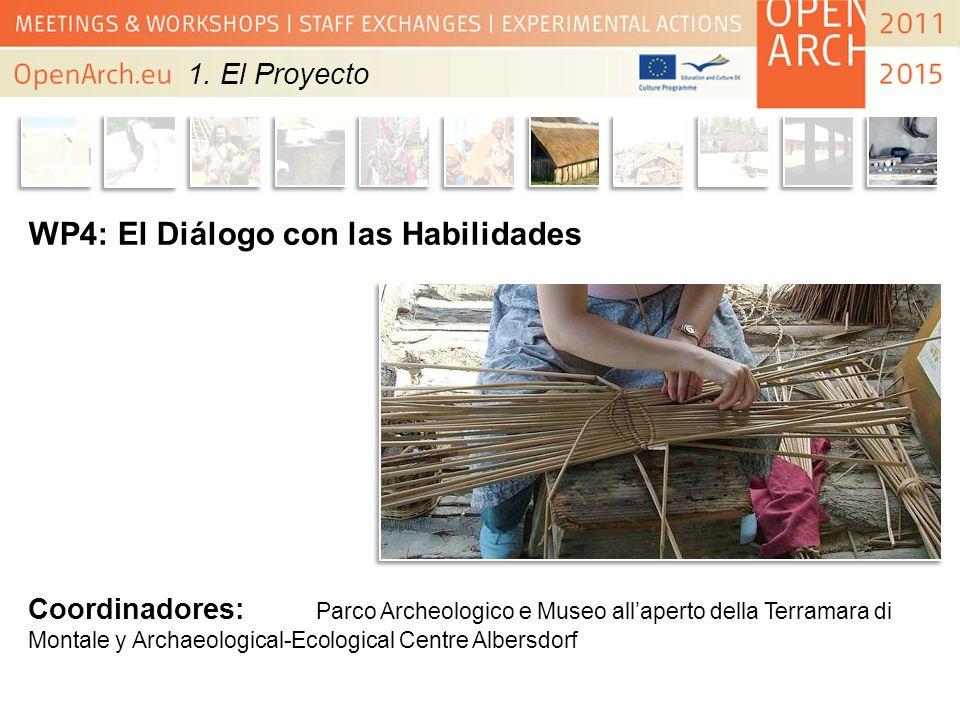WP4: El Diálogo con las Habilidades Coordinadores: Parco Archeologico e Museo allaperto della Terramara di Montale y Archaeological-Ecological Centre