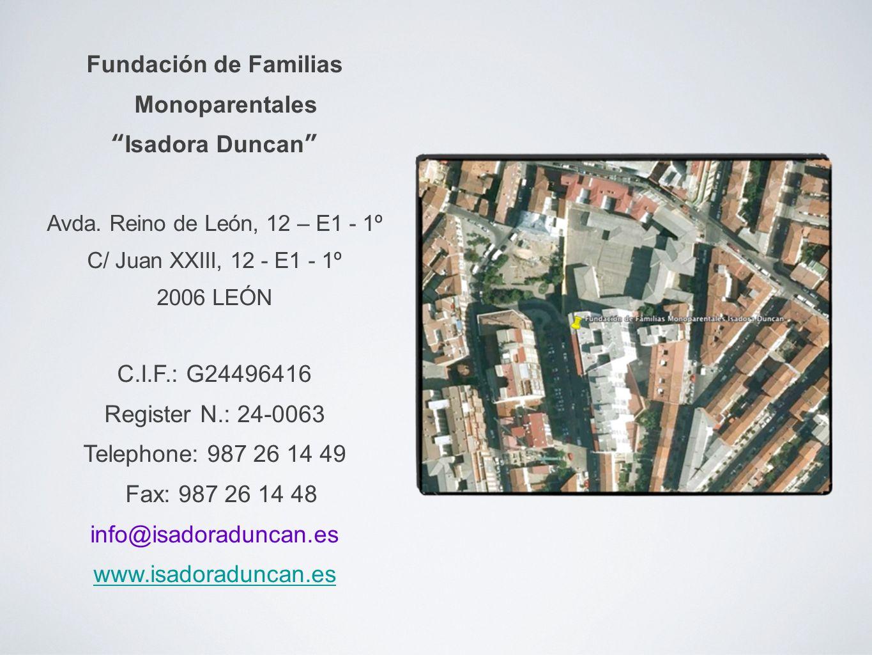 Fundación de Familias Monoparentales Isadora Duncan Avda.