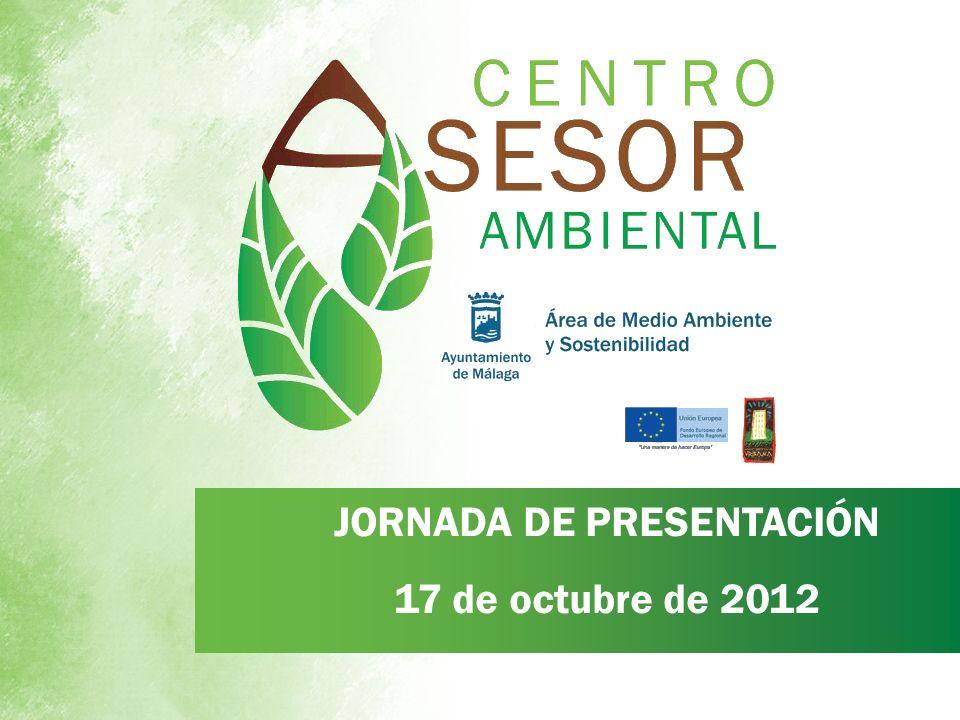 JORNADA DE PRESENTACIÓN 17 de octubre de 2012